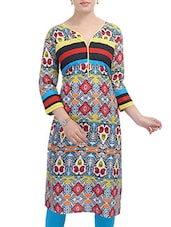 Multicolour Rayon Long  Kurta - By