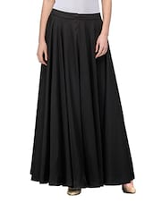black georgette flared skirts -  online shopping for Skirts