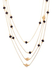Gold And Black Metal Alloy Necklace - By