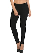 black 95%poly viscose 5%spandex woolen legging -  online shopping for Woolen leggings