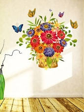 Wall Stickers Flowers Beautiful Bouquet Arrangement Design For Hall Entrance Decoration Colourful Vinyl - By