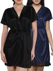 Satin Nighty Robe Set -  online shopping for Sleepshirts & Nighties