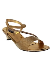 9SPACE gold Fabric sandals  -  online shopping for sandals