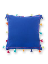 Blue Cotton Cushion Cover - By
