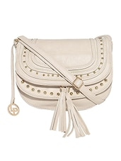 white leatherette sling bag -  online shopping for sling bags