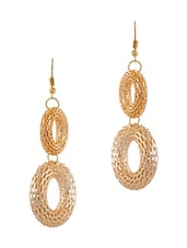 Yellow Gold 14k Plated Alloy Earring - By
