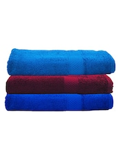 Trident Multicolured Cotton Bath Towel Set of 3 -  online shopping for towels