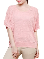 light pink poly cotton top -  online shopping for Tops