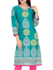 Light Blue Cotton Regular Kurta - By