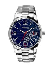 blue colored metal alloy watch with day display -  online shopping for Analog Watches