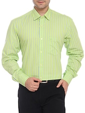 ColorPlus green Cotton casual shirts -  online shopping for formal shirts