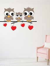 A Sweet Little Owl Family Multi Color Wall Stickers - By