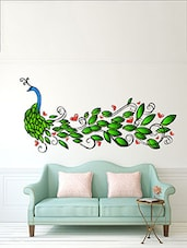 Abstract Peacock  Multi Color Wall Stickers - By