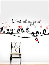 Bird Singing Multi Color Wall Stickers - By