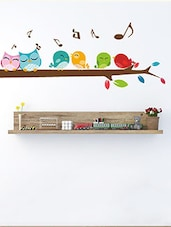 Birds Singing On A Branch Multi Color Wall Stickers - By - 10504544