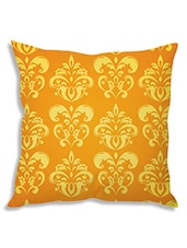 Yellow Poly Silk Single Cushion Cover - By