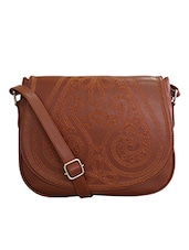 brown faux leather sling bag -  online shopping for sling bags