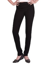 black cotton lycra jeggings -  online shopping for Jeggings
