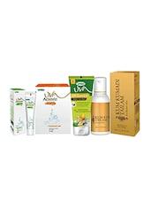 Trichup Natural Skin Care Kit  (Kum Kumadi Tailam (50ml), Facepack (50g), Acnovin Cream (25g), Facewash (60g)) - By