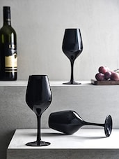 Black Wine Glass (Set of 6) -  online shopping for Glass Sets