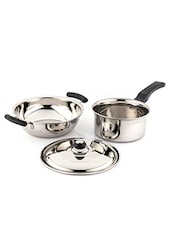Induction And Lpg Compatible Cookware Set of 3 Pcs -  online shopping for Cookware Sets