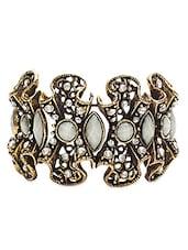 White Swarovski Embellished Bracelet - By