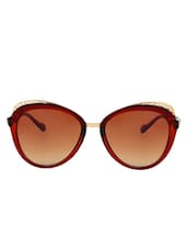 Zyaden Brown Oval Sunglasses For Women 110 - By