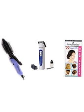 STYLE MANIAC Hair Curling Rod With Brush & Trimmer - By