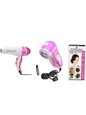 1 Hair Dryer:: 1 Lint Roller , 1 Brush:: 1 Free Hairstyle Booklet - By