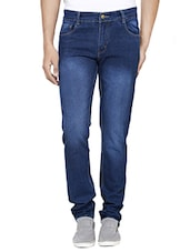 Blue Stretchable Slim Fit Jeans -  online shopping for Jeans