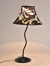 Brown Metallic Table Lamp - By