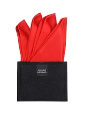 red microfibre pocket square -  online shopping for Pocket Squares