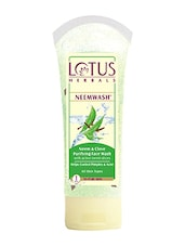 """Lotus Herbals NEEMWASHâ""""¢ Neem & Clove Ultra-Purifying Face Wash With Active Neem Slices 120g - By"""