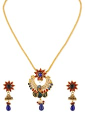 Gold Metal Alloy Necklaces And Earring - By