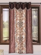 Homefab India  Designer Brown Curtain - By
