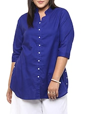 navy blue cotton tunic -  online shopping for Tunics