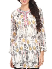 Printed Long Sleeves Cotton Top - By