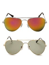 black and orang Metal Sunglasses Set of 2 -  online shopping for Sunglasses