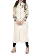 cream georgette kurti -  online shopping for kurtis