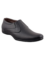 black faux leather formal shoes -  online shopping for Formal Shoes