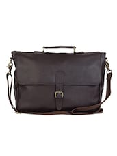 Brown Faux leather office bag -  online shopping for Laptop bags