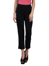 Black cotton Lycra Knit Lounge Pants -  online shopping for Trousers