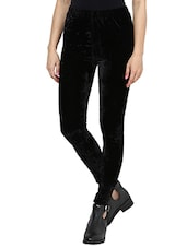 black velvet leggings -  online shopping for Leggings