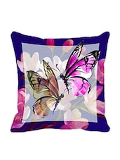 Leaf Designs Light Purple Butterfly Cushion Cover - By