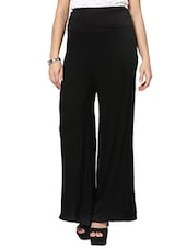 black viscose palazzos -  online shopping for Palazzos