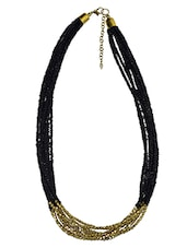 Black Glass Necklace - By