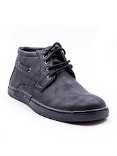 black faux leather casual shoes -  online shopping for Casual Shoes