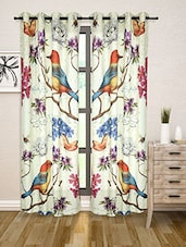 Multicoloured Floral Print Door Curtain - By