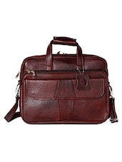 brown genuine leather laptop bag -  online shopping for Laptop bags