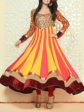 multicolor georgette anarkali suits semistitched suit -  online shopping for Semi-Stitched Suits